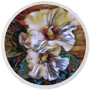 Mallow Mallow Round Beach Towel by Jack Torcello