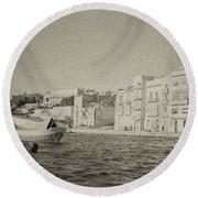 Maltese Boat Round Beach Towel