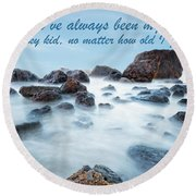 Mama, You've Always Been My Rock - Mother's Day Card Round Beach Towel