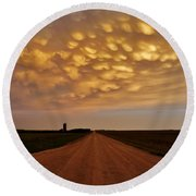 Mammatus Road Round Beach Towel