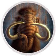 Mammoth Round Beach Towel
