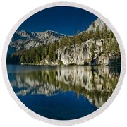 Mammoth Lakes Reflections Round Beach Towel