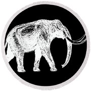 Mammoth White Ink Tee Round Beach Towel