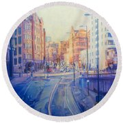 Manchester Light And Shade Round Beach Towel
