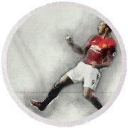 Manchester United's Zlatan Ibrahimovic Celebrates Round Beach Towel