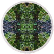 Mandala 02 Round Beach Towel