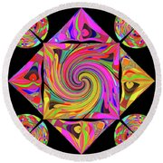 Mandala #50 Round Beach Towel