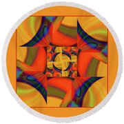 Mandala #56 Round Beach Towel