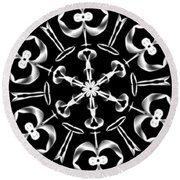 Mandala 8 Round Beach Towel