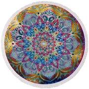 Mandala Abstract Round Beach Towel