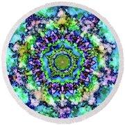 Mandala Art 1 Round Beach Towel by Patricia Lintner