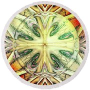 Round Beach Towel featuring the digital art Mandala by Beto Machado