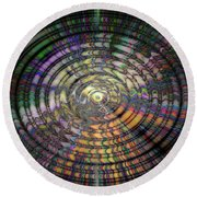 Round Beach Towel featuring the photograph Mandala by Cathy Donohoue