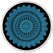 Mandala For The Masses Round Beach Towel