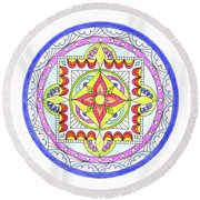 Round Beach Towel featuring the photograph Mandala by Marilyn Hunt
