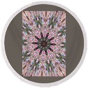 Mandala Of Cherry Blossom Round Beach Towel