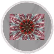 Mandala Of Glass Round Beach Towel