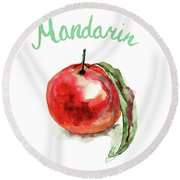 Mandarin Fruits Round Beach Towel