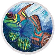 Mandarinfish Round Beach Towel