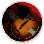 Mandolin Guitar 66661 Round Beach Towel by Kevin Chippindall