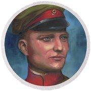 Manfred Von Richthofen The Red Baron Round Beach Towel