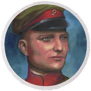 Manfred Von Richthofen The Red Baron Round Beach Towel