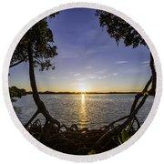 Mangrove Frame Round Beach Towel