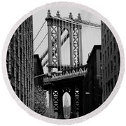 Manhattan Empire Round Beach Towel