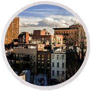 Manhattan From The Whitney Round Beach Towel