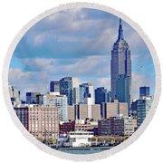 Manhattan Skyline No. 7-1 Round Beach Towel