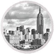 Manhattan Skyline No. 7-2 Round Beach Towel