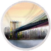 Manhattan X3 Round Beach Towel
