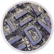 Manhole Cover Round Beach Towel