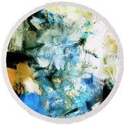 Round Beach Towel featuring the painting Manifestation by Dominic Piperata