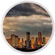 Manila Cityscape Round Beach Towel