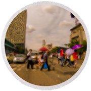 Manila Crosswalk 6292972 Round Beach Towel