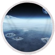 Mankind Exploring Space Round Beach Towel