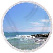 Manly Beach No. 267 Round Beach Towel