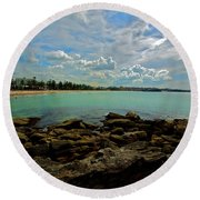 Manly Bliss Round Beach Towel