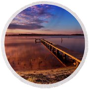 Manning Point 666 Round Beach Towel by Kevin Chippindall