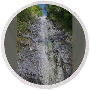 Manoa Falls Round Beach Towel