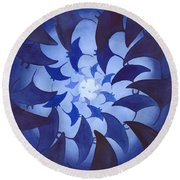 Mantas Round Beach Towel