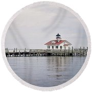 Manteo Lighthouse Round Beach Towel