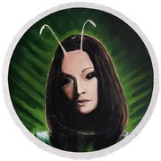 Mantis Round Beach Towel