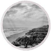 Mantoloking Beach - Jersey Shore Round Beach Towel