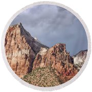 Round Beach Towel featuring the photograph Many Splendored Zion by John M Bailey