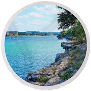 Many Things To Do Round Beach Towel