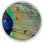 Many Water Drops Round Beach Towel