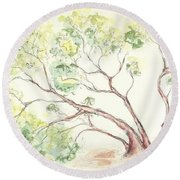 Manzanita Tree Round Beach Towel