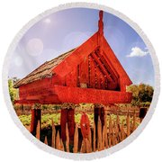 Maori Gathering Place Round Beach Towel